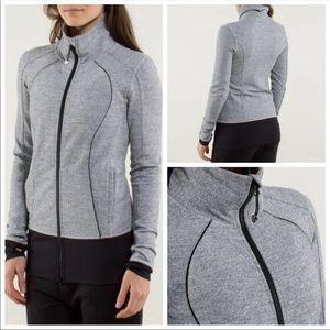 Lululemon Herringbone zip up size 6